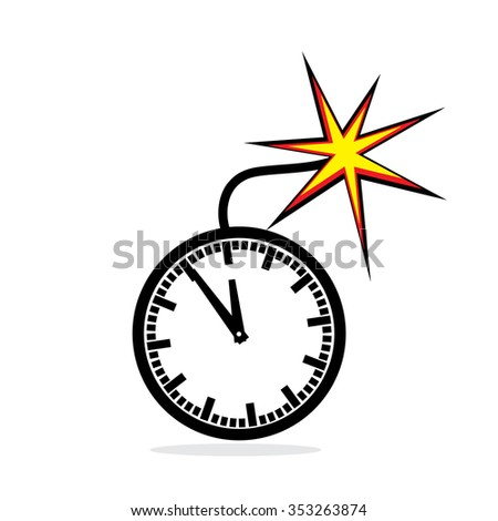 Office clock bomb as concept for deadline - stock photo