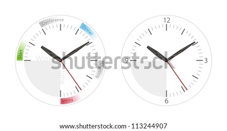 Office clock with a schedule