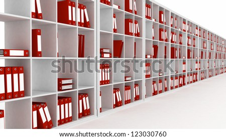 office closet, isolated on a white background - stock photo