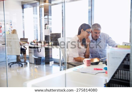 Office colleagues working togetherÃ?? - stock photo