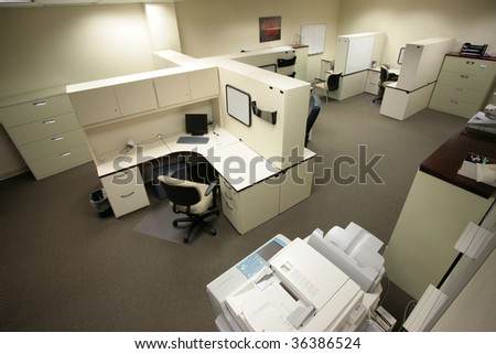 Office Cubicles - stock photo