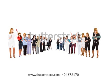 Office Culture United Company  - stock photo
