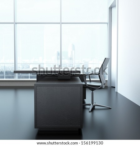 Office desk in interior - stock photo