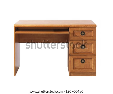 office desk isolated - stock photo