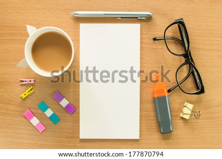 Office desktop - stock photo