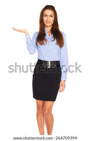 Office employee on a white background
