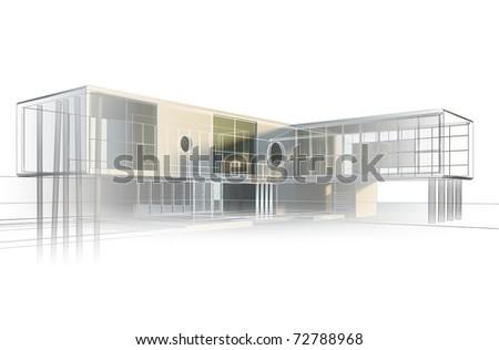 Office engineering - stock photo