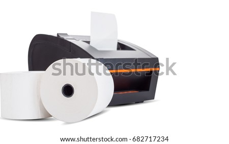 Contoh Invoice Receipt Printer Stock Images Royaltyfree Images  Vectors  Software For Billing And Invoicing Free Word with Templates Of Receipts Excel Office Equipment A Point Of Sale Receipt Printer Printing A Receipt On  White Background Sheraton Receipt Excel
