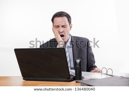 office expressions & situations tired - stock photo