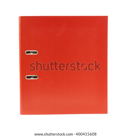 Office folder isolated over the white background - stock photo