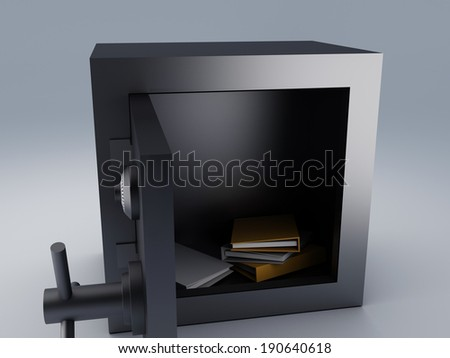 Office folder safe. security concept - stock photo