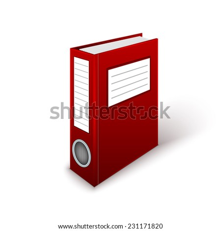 Office Folder Template - stock photo