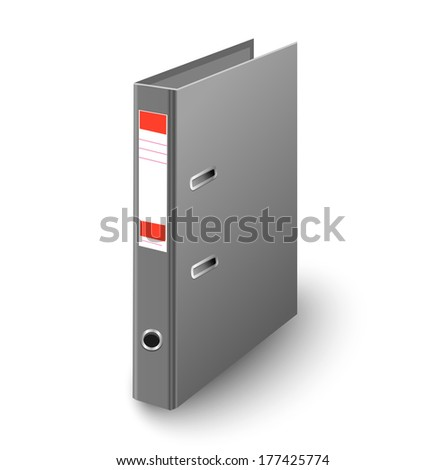 Office Folder Template Isolated on White Background - stock photo