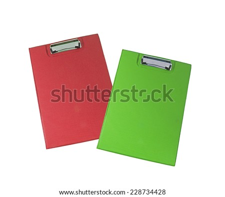 Office folders isolated - stock photo