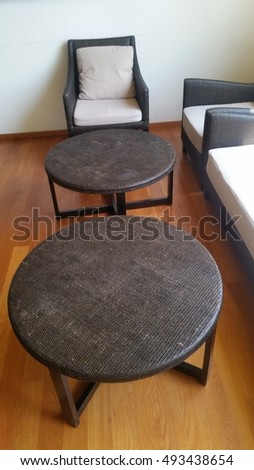 office furniture, circles table and chairs