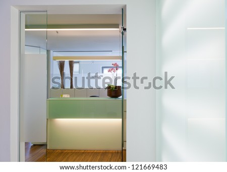 Office Hospital or Clinical. Interior Reception of a medical practice reception