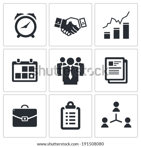 office icons set - stock photo