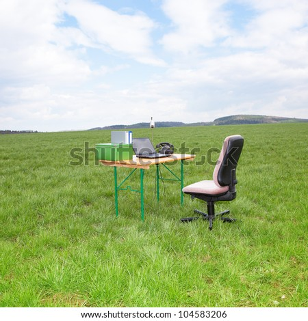 Office in the green