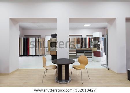 Office Interior In Furniture Showroom