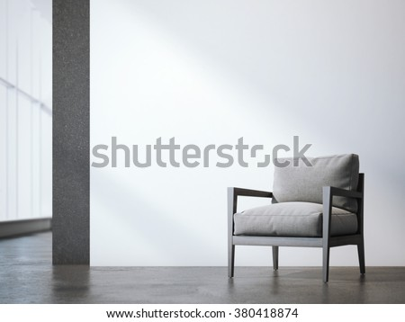 Office interior with armchair. 3d rendering - stock photo