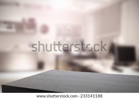 office interior with black desk  - stock photo