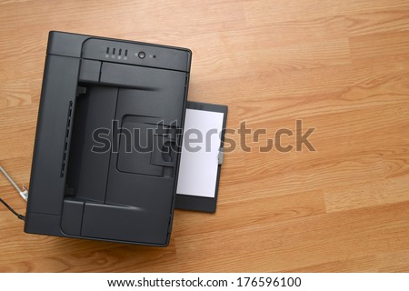 office laser printer - stock photo