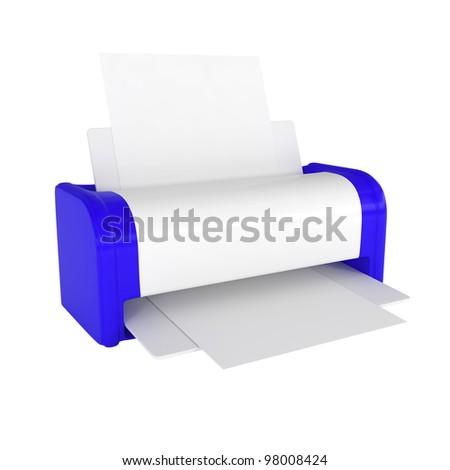 Office Laser Printer - 3d illustration - stock photo
