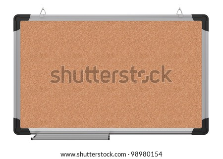 Office magnetic board. The material is cork. 3d rendering - stock photo