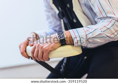 Office massage on chair