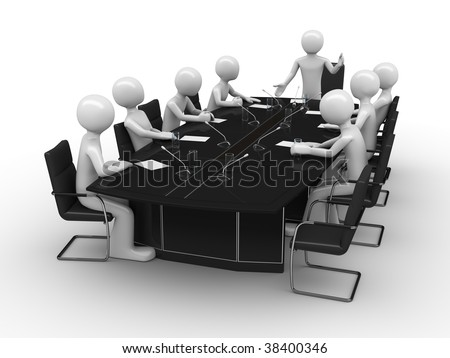 Office meeting in conference room
