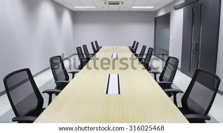Office Meeting room  and conference table