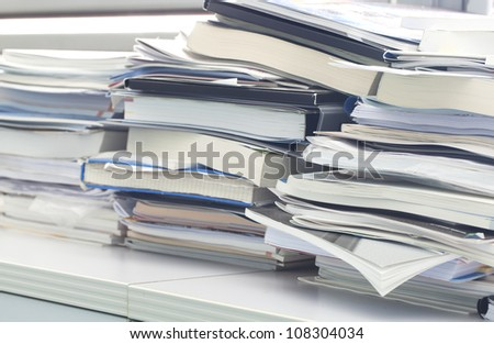 Office mess - stock photo