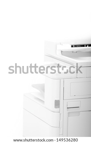 Office Multifunction Printer - abstract photo with bright light - stock photo