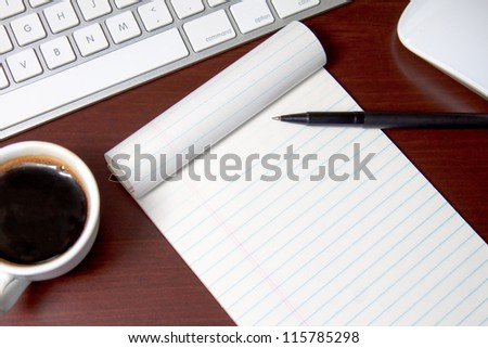 Office Notepad - Add your own message - stock photo