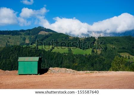 office on mountain - stock photo