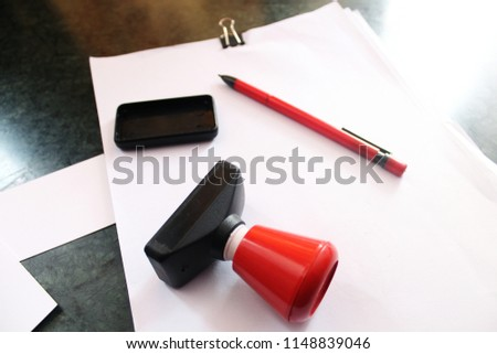 office paper document stamp business cards stock photo royalty free