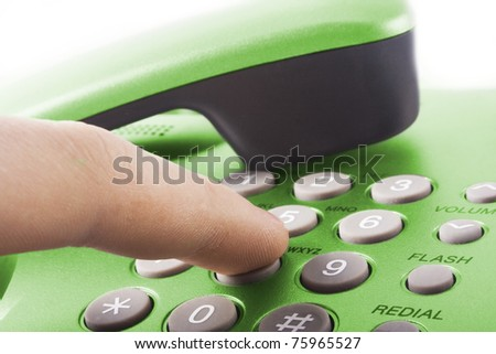 office phone - stock photo