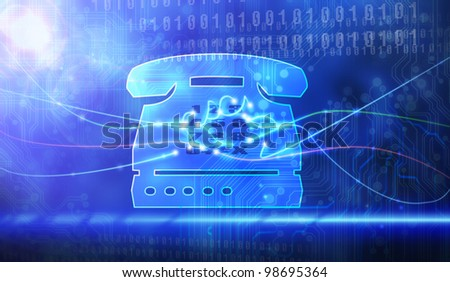 Office Phone Icon. - stock photo