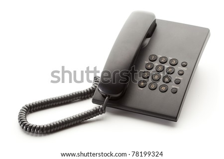office phone isolated - stock photo