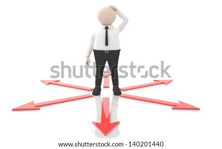 Office scenes (Managing confused) - stock photo