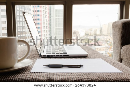 Office setting. - stock photo