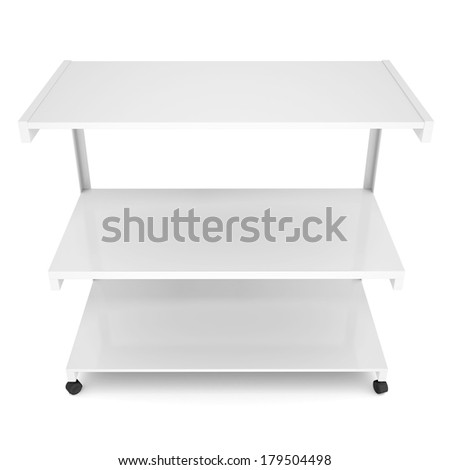 Office shelving unit on wheels. Isolated render on a white background - stock photo