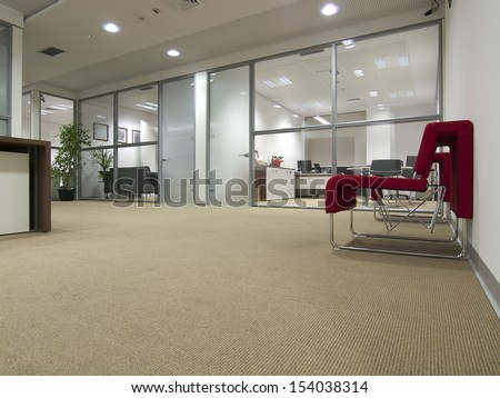 Office space interior - stock photo