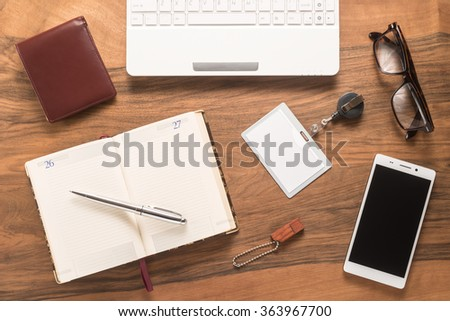 Office table   - stock photo