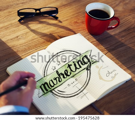 Office Table with Marketing Concept - stock photo