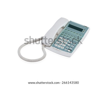 Office telephone isolated on white background  - stock photo