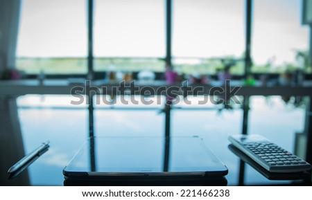 Glass Desk Stock Images RoyaltyFree Images Vectors Shutterstock