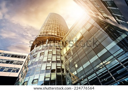 office tower in the sun - stock photo