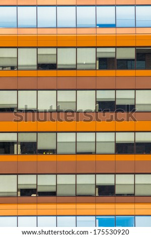 Office Windows as a Concept for Bussines Hours and Jobs - stock photo