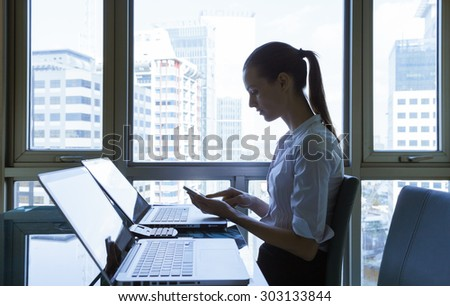Office worker.  - stock photo
